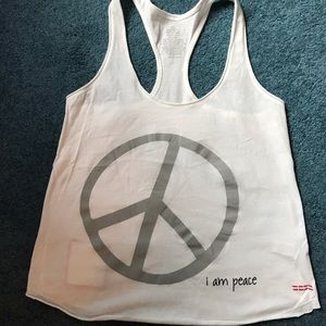 Peace Love World tank top. Size small. I am peace